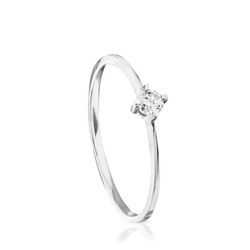 White Gold TOUS Brillants Ring with Diamond