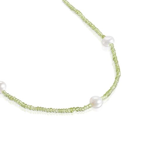 Collar de peridotos y perlas Sea Vibes
