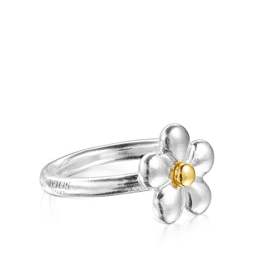 AnellFragileNature flor bicolor