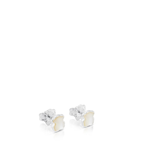 Silver TOUS Color Earrings with mother-of-pearl