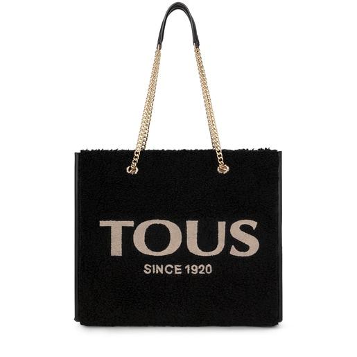 Μεγάλη μαύρη τσάντα για Ψώνια Amaya Warm