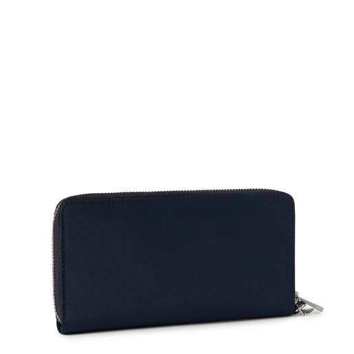 Medium navy blue Empire Soft Chain Wallet