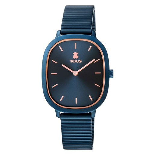 RellotgeHeritageBrickd'acer IP blau/rosat
