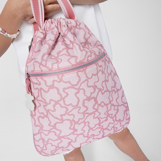 Rucksack Kaos New Colores aus Leinen in Rosa