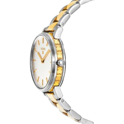 Reloj Rond Straight bicolor de IP dorado/acero
