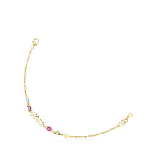 Armband TOUS Mama aus Vermeil-Silber mit Edelsteinen