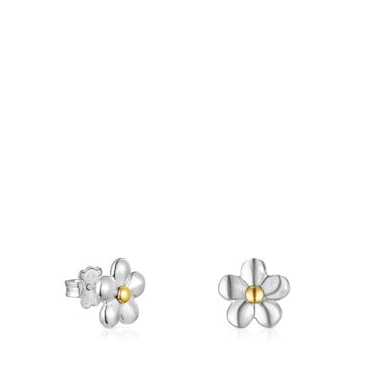 Pendientes flor bicolor Fragile Nature