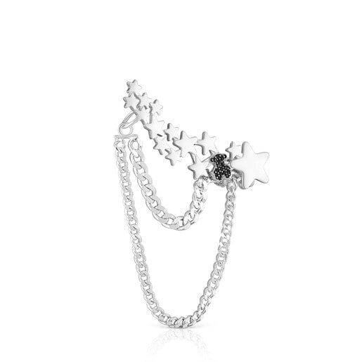 Kletterer-Ohrklemme Magic Nature aus Silber mit Spinellen