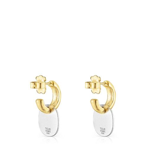 Boucles d'oreilles Oursin courtes bicolores