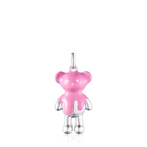 Pingente Teddy Bear em prata e esmalte - Exclusivo online
