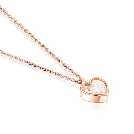 Collar Areia de plata vermeil rosa y perlas