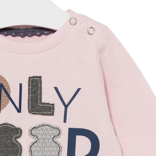 """Camiseta """"only good vibes"""" Casual Rosa"""