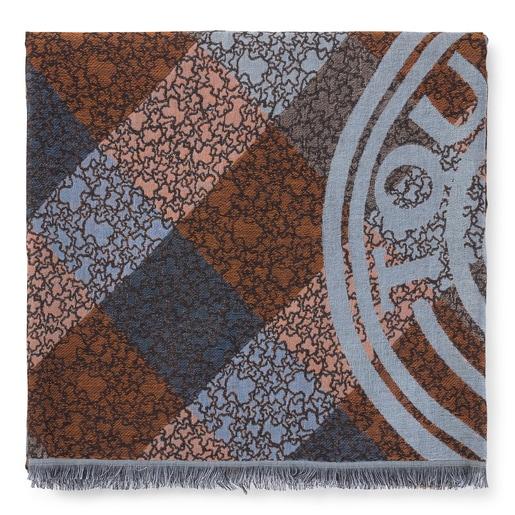 Fulard Kaos Mini Stamp de jacquard multicolor