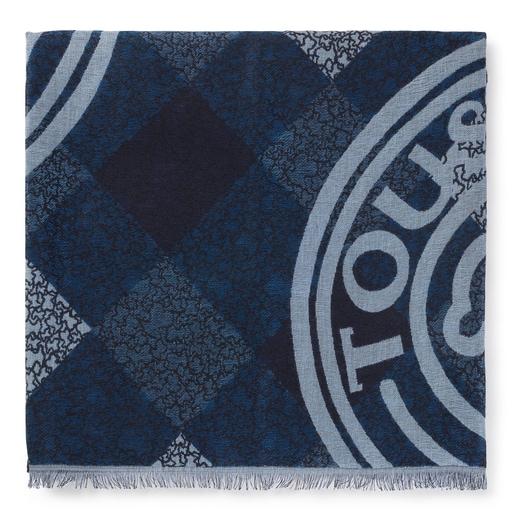 Foulard Kaos Mini Stamp de jacquard azul