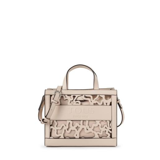 Medium beige Amaya Kaos Shock shopping bag