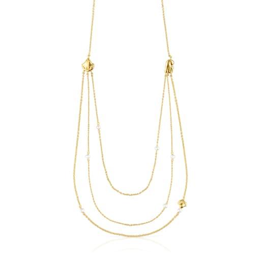 CollaretOceaanpetxines-cadenes d'or i perles