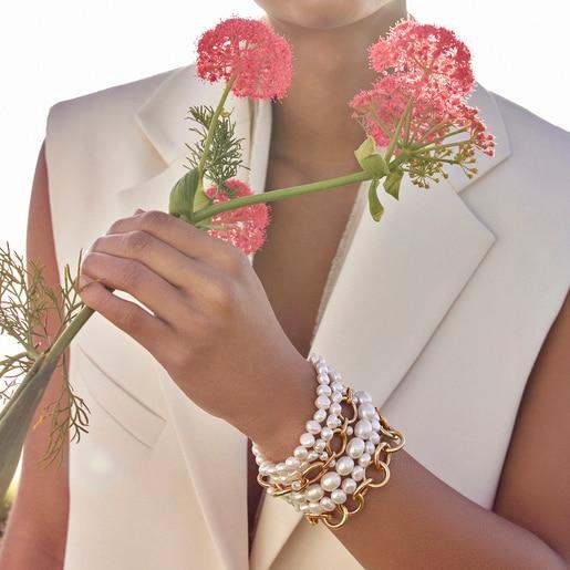 Hold-Pearl rings bracelets set