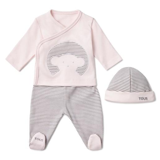 Neugeborenen-Garnitur Classic Rosa