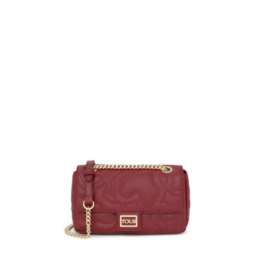 Small burgundy Kaos Dream flap shoulder bag