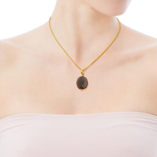 Vermeil Silver Terra Necklace with Quartz