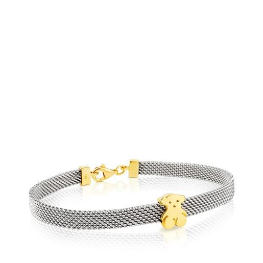 Armband Mesh aus Stahl und Gold