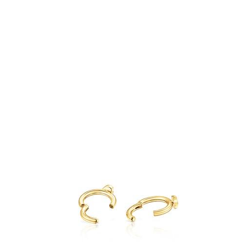 Piercing de oreja TOUS Basics de acero IP dorado