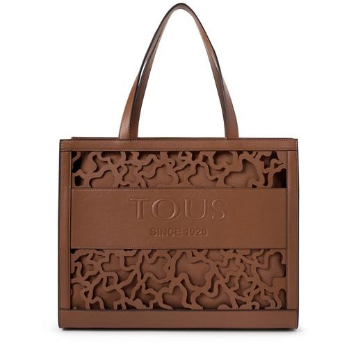 Large brown Amaya Kaos Shock shopping bag