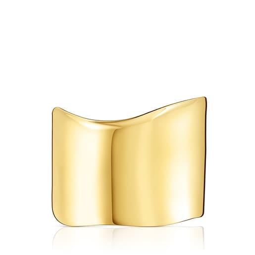 Wide Silver Vermeil Nenufar Bracelet
