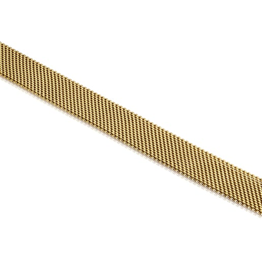 Gold-colored IP Steel Mesh Choker