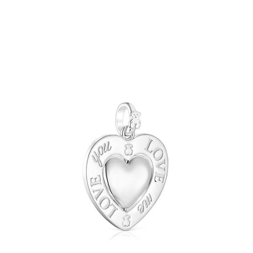 Anhänger mit einem sich drehenden Herzen San Valentín aus Silber