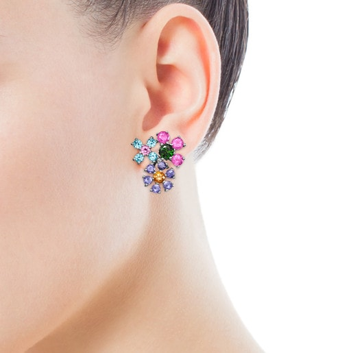 Ohrringe Real Sisy aus Titan mit Edelsteinen