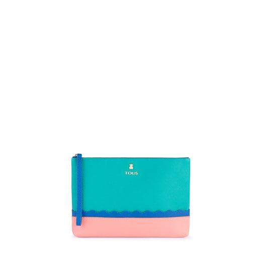 Green-blue Carlata Clutch bag