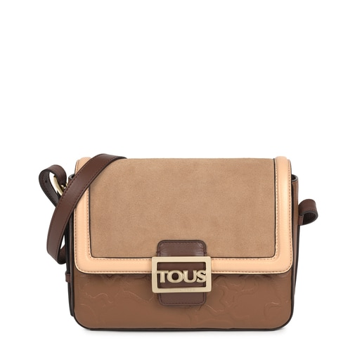 Medium brown Leather TOUS Icon Crossbody bag