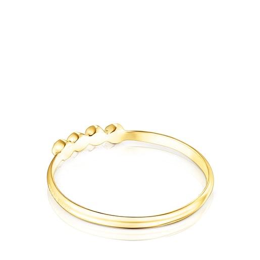 Ehering Straight Color aus Gold mit Edelsteinen