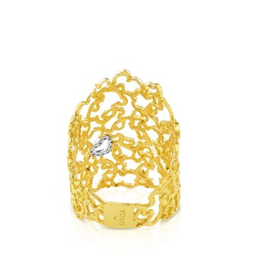 White and Yellow Gold Milosos Ring with Diamond