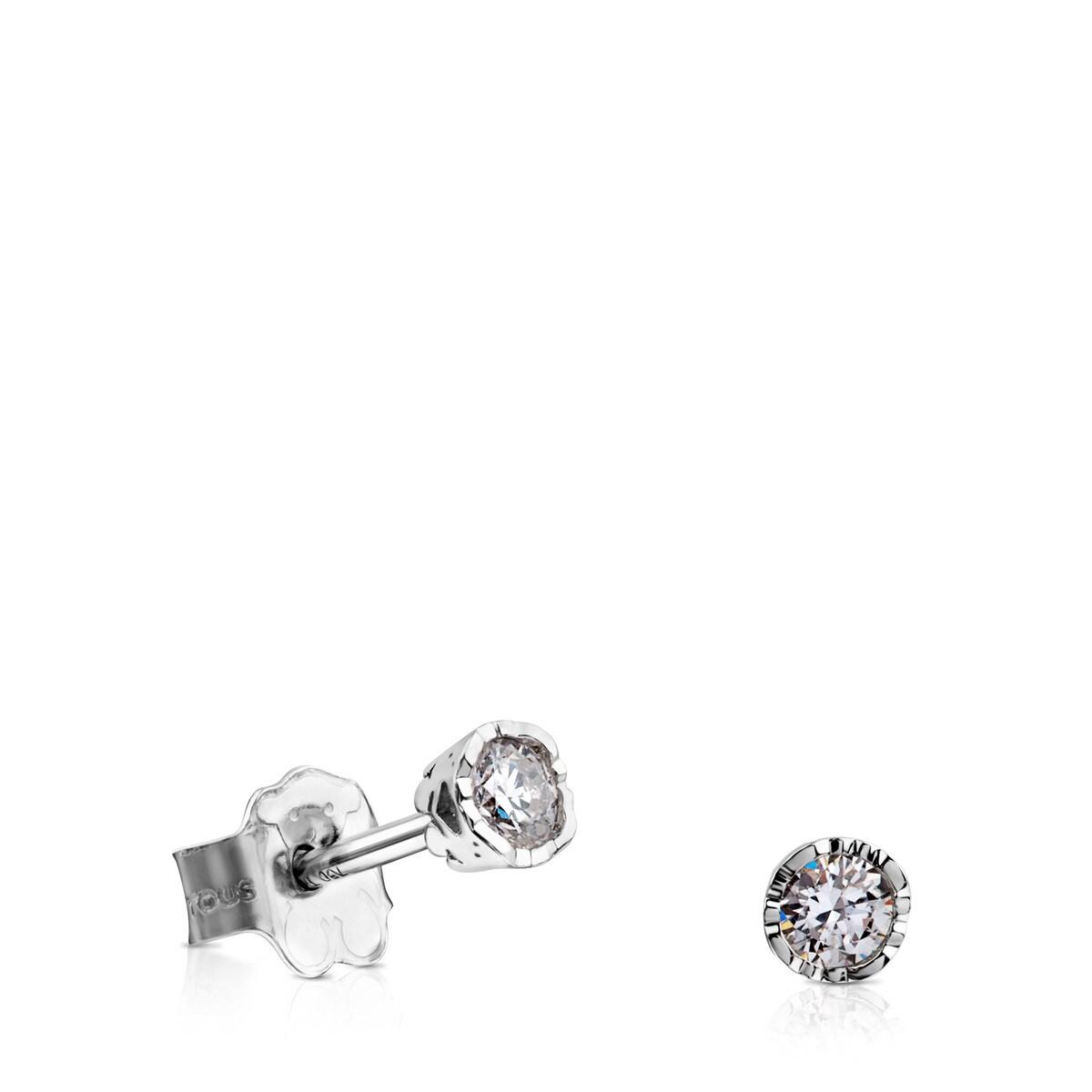 82e237df0518 Aretes Boca Osos de Oro blanco y Diamantes - Tous Site MX