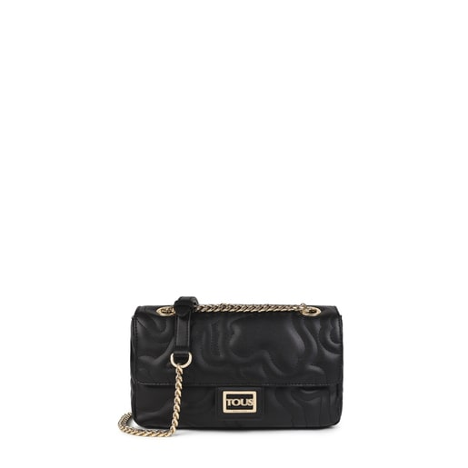Small black Kaos Dream Crossbody bag with flap