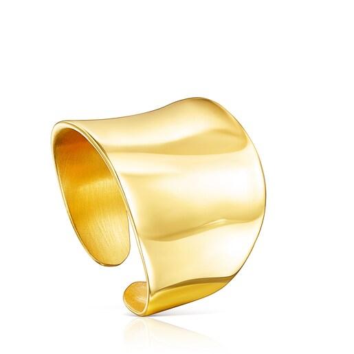 Ανοιχτό δαχτυλίδι Nenufar από Ασήμι Vermeil