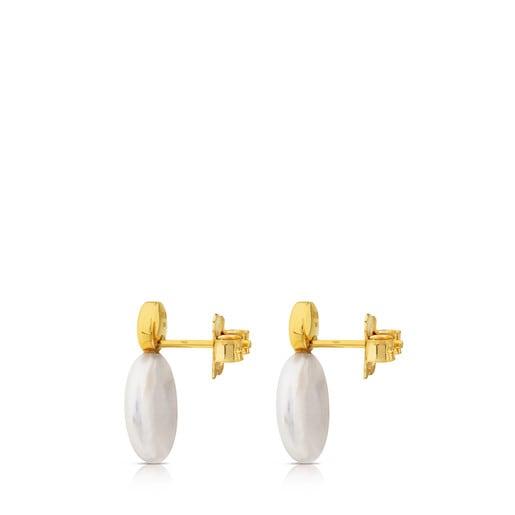 Pendientes de oro con perla Alecia