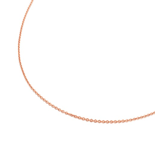Cadena TOUS Chain de plata vermeil rosa. Largo: 100 cm