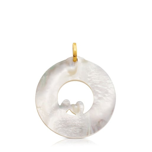 Gold TOUS Mama Pendant with Mother-of-pearl