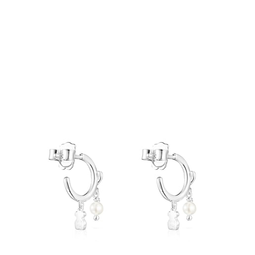 Silver and Pearls Cool Joy Earrings