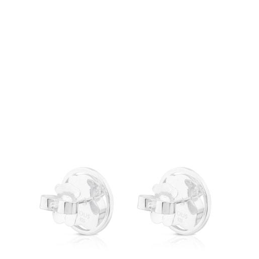 Ohrringe Camille aus Silber mit Rosenquarz