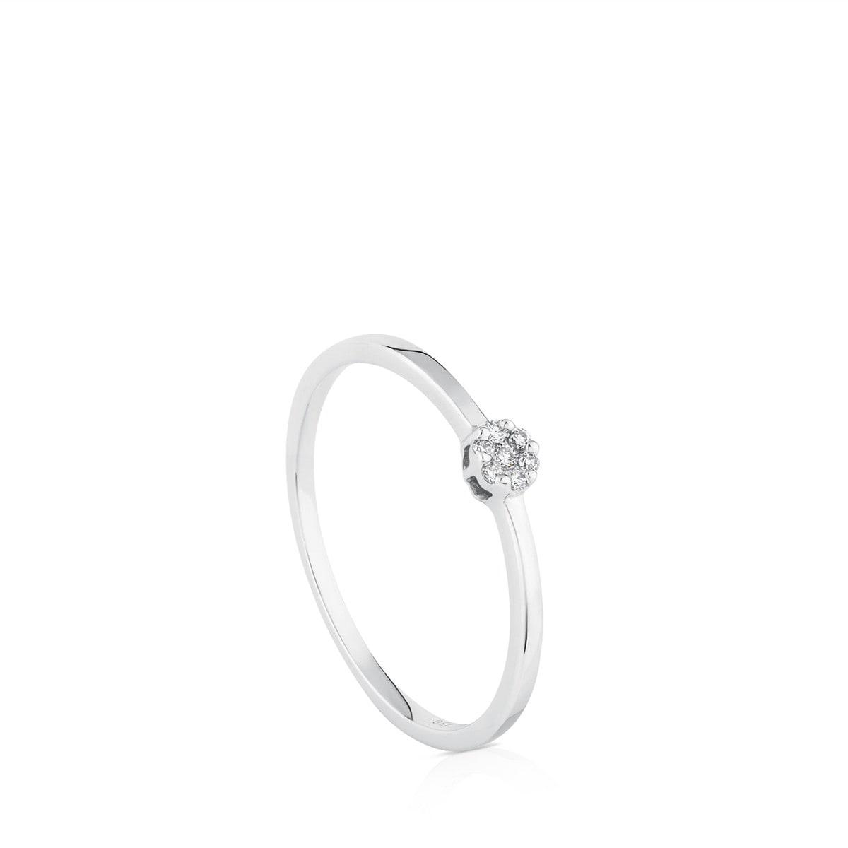 4e2373cba7ec Anillo TOUS Diamonds de Oro blanco con Diamantes - Sitio web Tous España