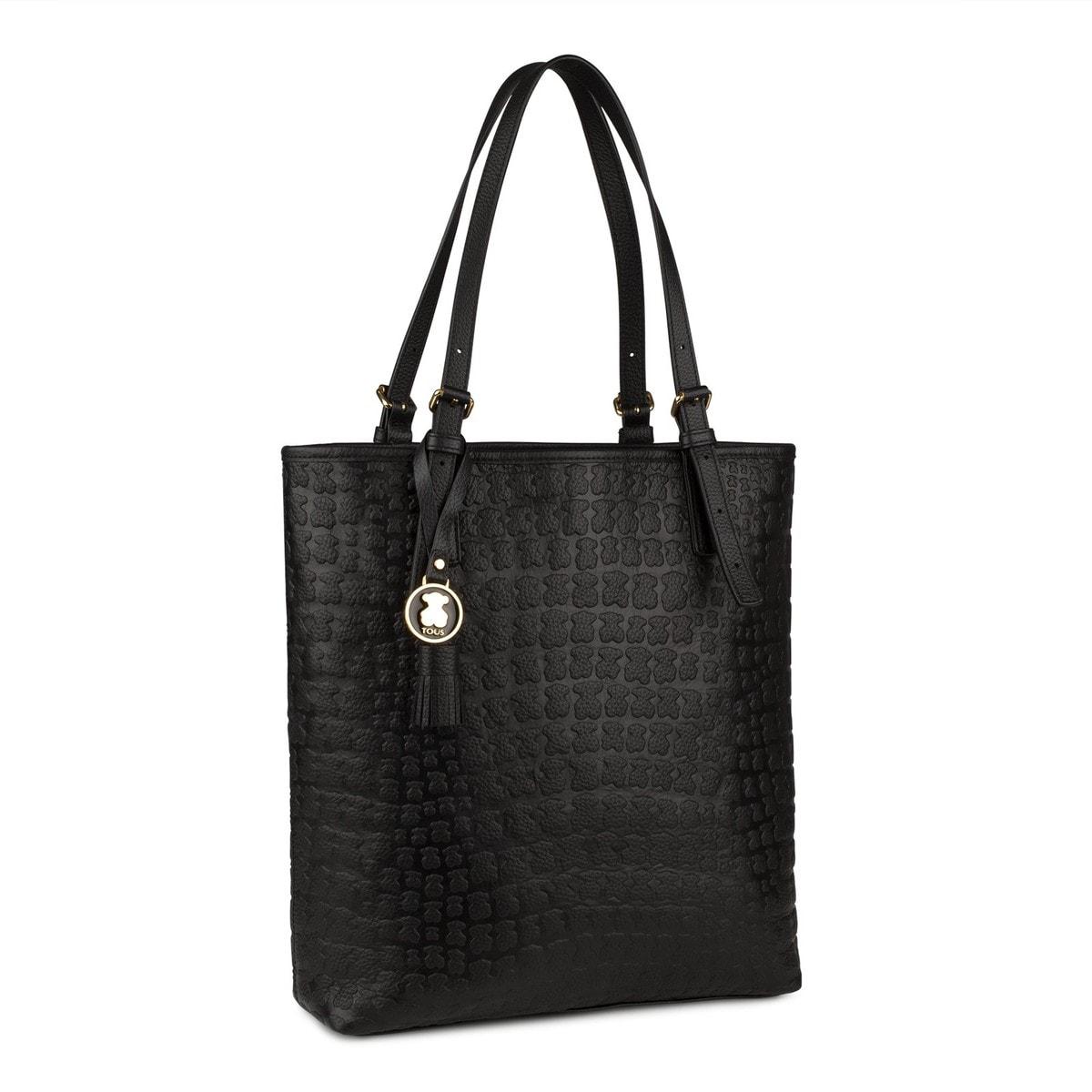 De Color Negro En Sitio España Shopping Web Sherton Tous Piel 2IHED9