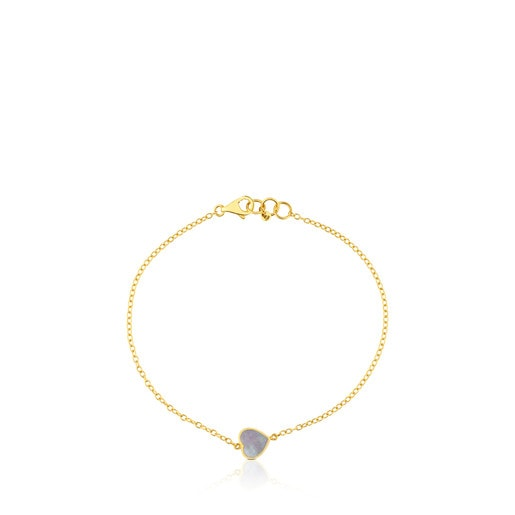 Gold and Mother-of-pearl XXS heart Bracelet