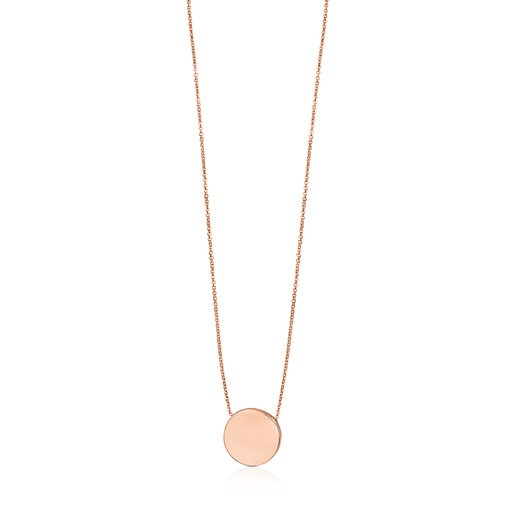 ATELIER 24/7 disc Necklace in rose Gold