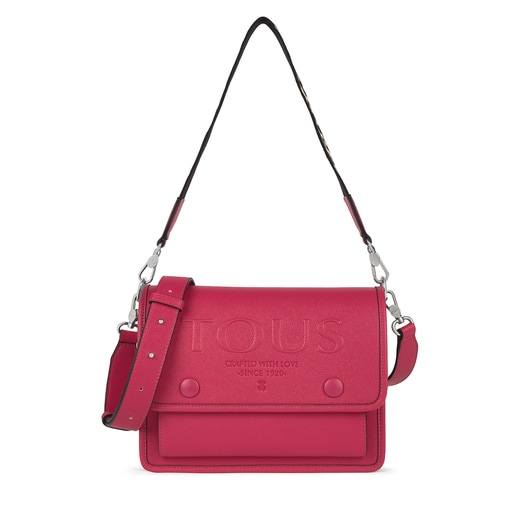 Medium crossbody bag Audree T POP fuchsia