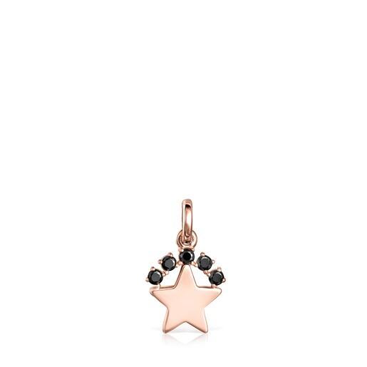 Dije Real Sisy estrella de Plata Vermeil rosa con Espinelas