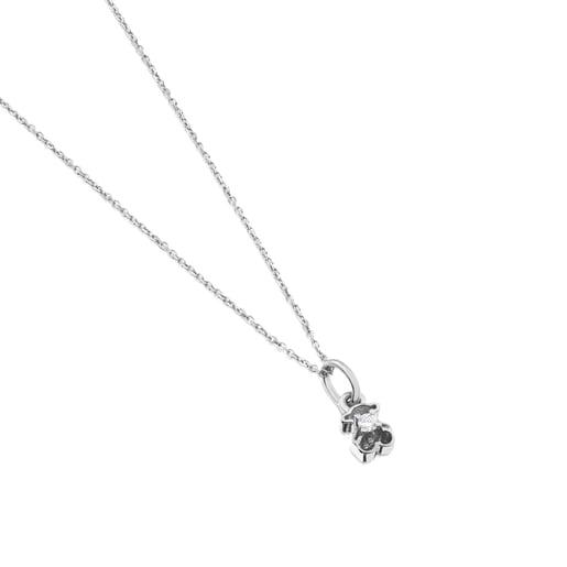 Κολιέ Silueta από πλατίνα με διαμάντια